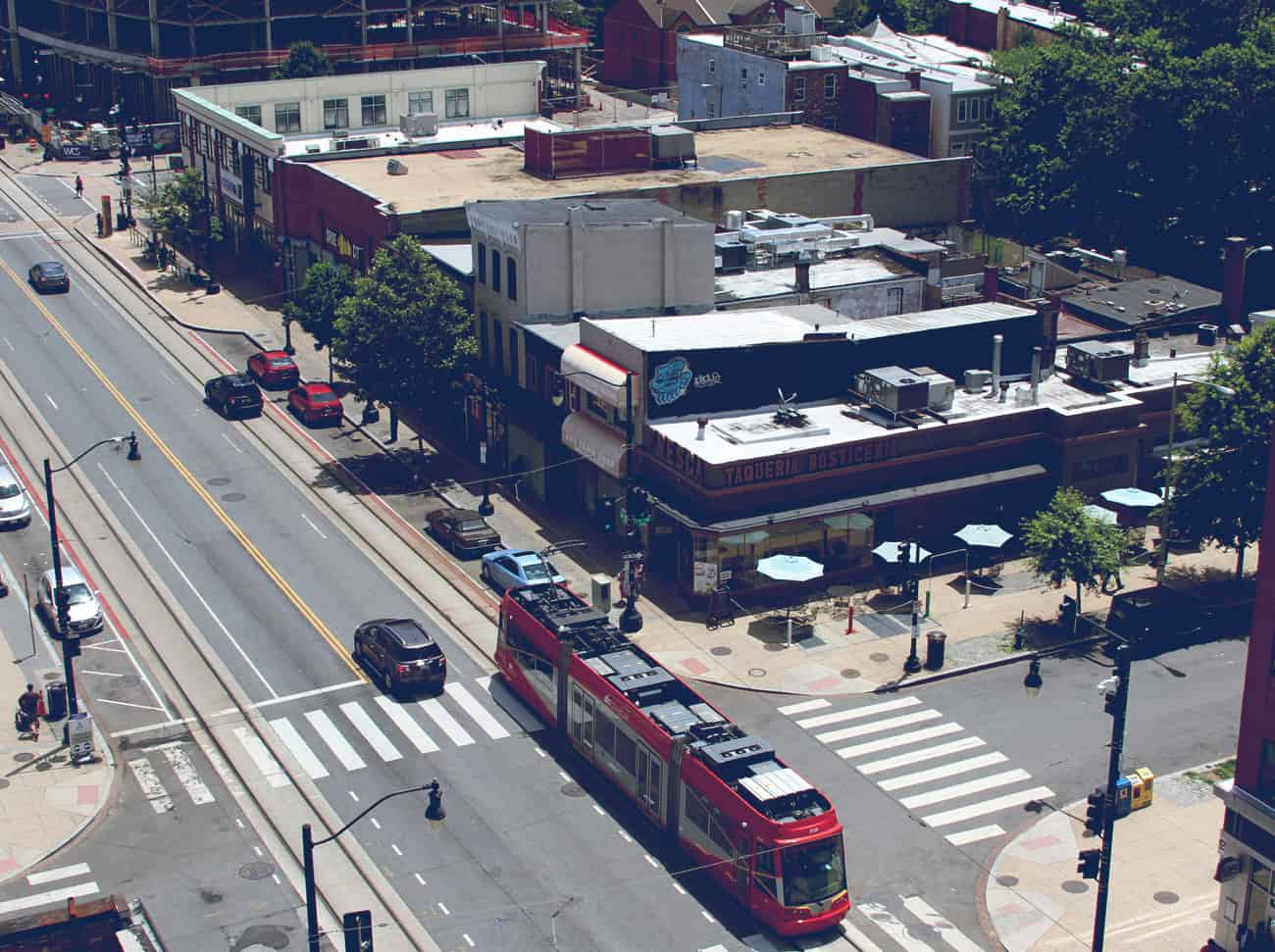 Ariel view of H Street