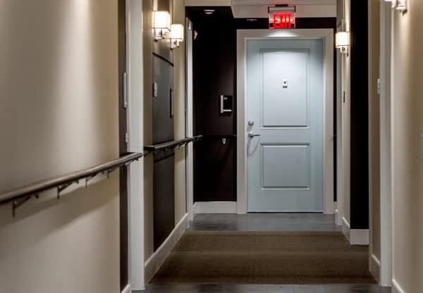 Girard Street Apartments hallway