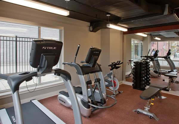 Justice Park fitness room